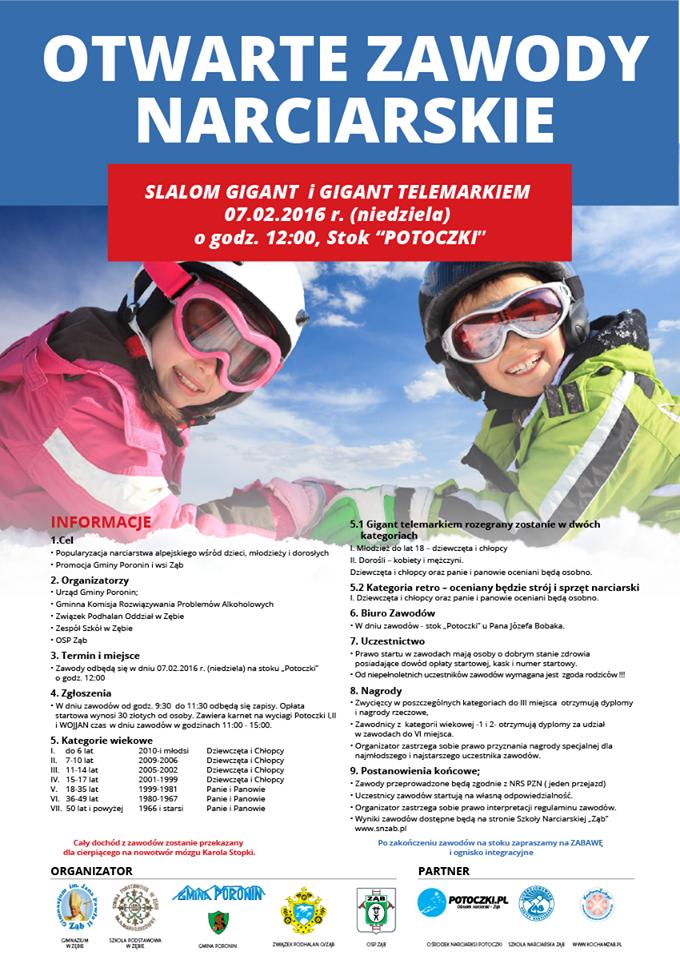 otwarte zawody w slalomie-potoczki